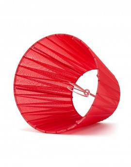 Abażur Stożek Organza Czerwony
