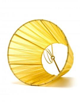 Abażur Stożek Organza Żółty