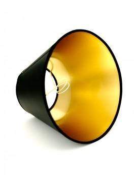 Abażur Stożek PCV Premium Czarny/Złoty