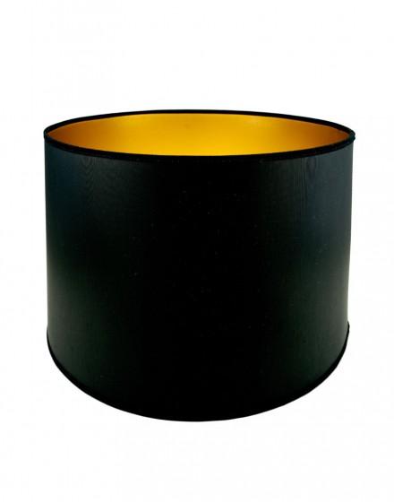 Abażur Owal PCV Premium Czarny/Złoty