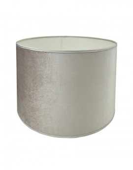Abażur Owal PCV Premium Welur Srebrny