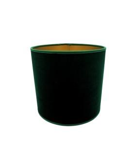 Abażur Owal PCV Premium Welur Zielony/Złoty
