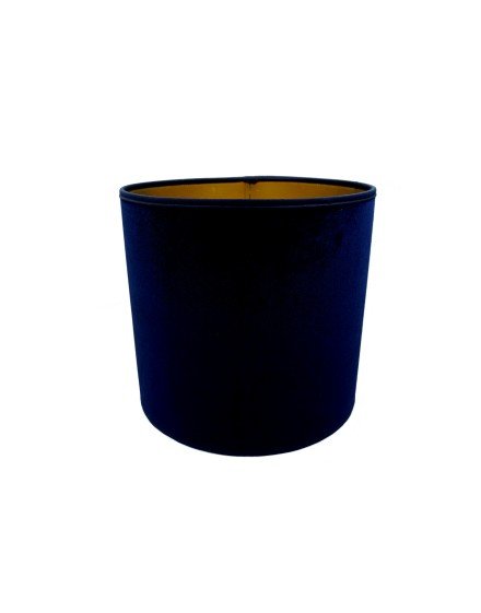 Abażur Owal PCV Premium Welur Granatowy/Złoty