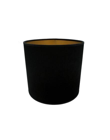 Abażur Owal PCV Premium Welur Czarny/Złoty
