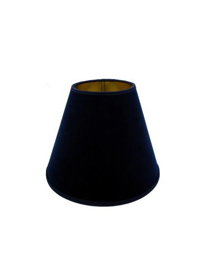 Abażur Stożek PCV Premium Welur Granatowy/Złoty