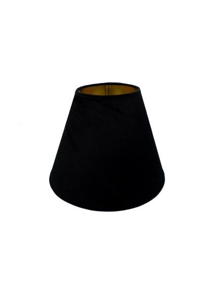 Abażur Stożek PCV Premium Welur Czarny/Złoty