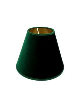Abażur Stożek PCV Premium Welur Zielony/Złoty