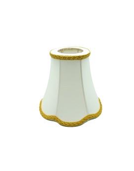 Abażur Retro Mini Ecru/Złoty